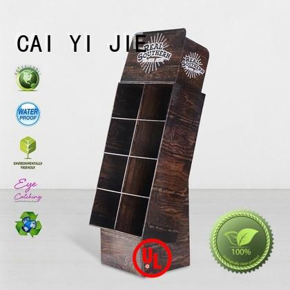 CAI YI JIE cardboard floor display space for cabinet