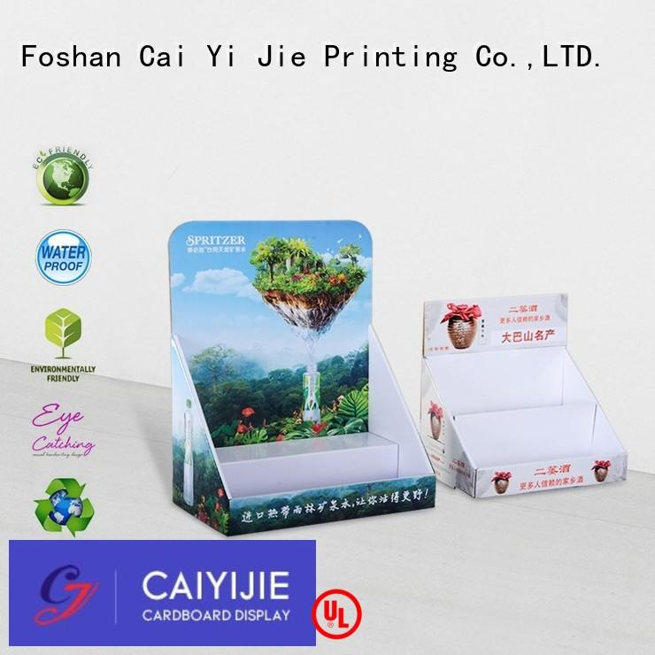 cardboard counter display boxes OEM for units chain CAI YI JIE