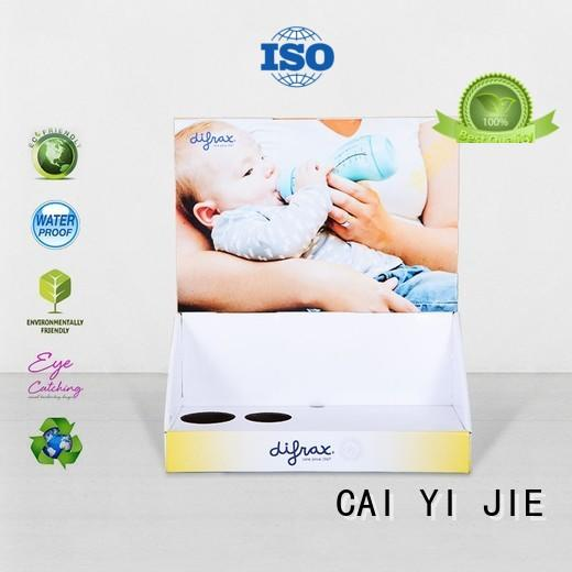 CAI YI JIE promotional custom cardboard display boxes factory price for stores