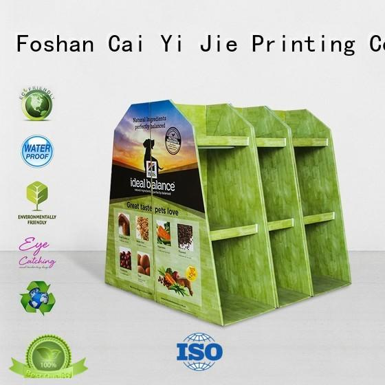 CAI YI JIE marketing cardboard display rack paper stand for stores