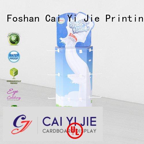 CAI YI JIE sidekick display rack stand hooks wing corrugated