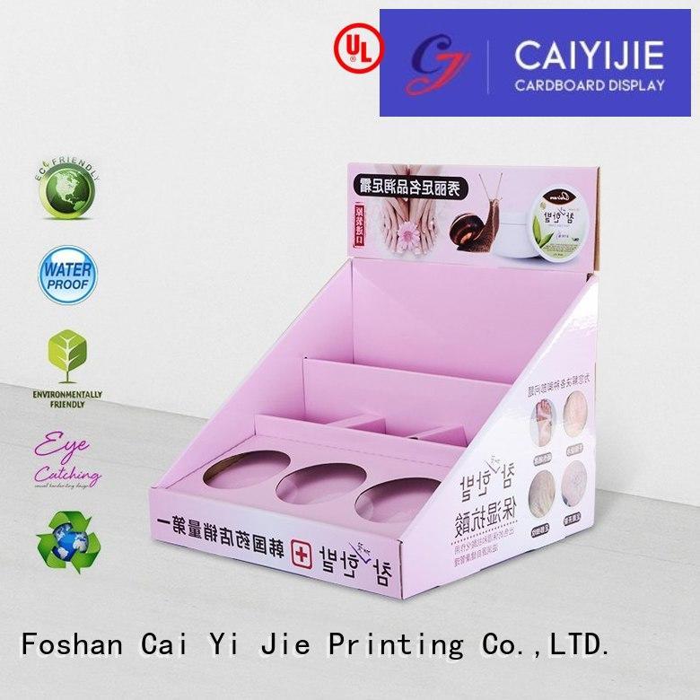 custom cardboard counter displays supermarkets printed countertop Warranty CAI YI JIE