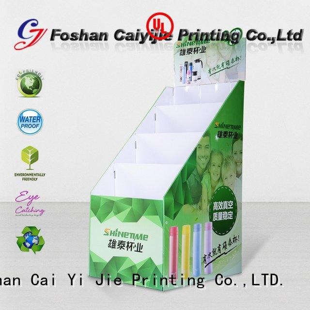 CAI YI JIE Brand large stairglossy cardboard stand space stiand
