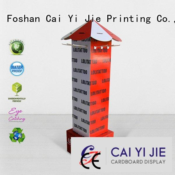 CAI YI JIE counter hook display stand full cardboard stands