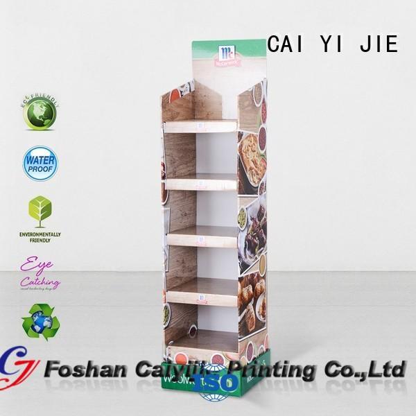 cardboard tabletop display printed CAI YI JIE