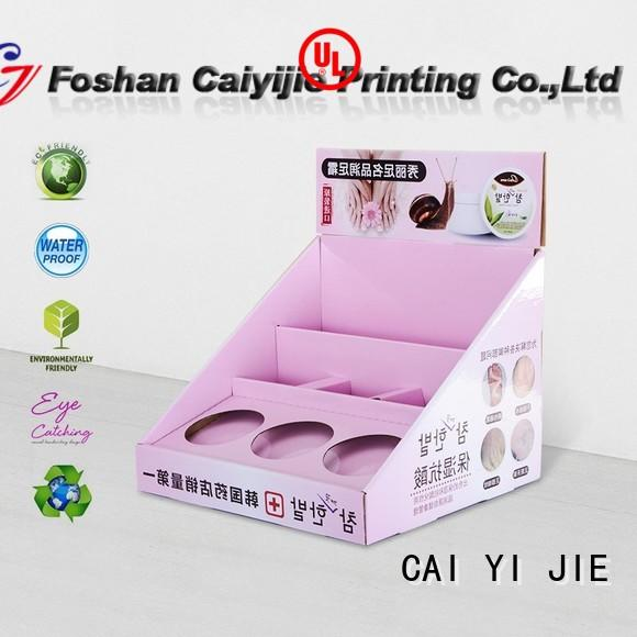 CAI YI JIE display packaging boxes stands boxes for stores