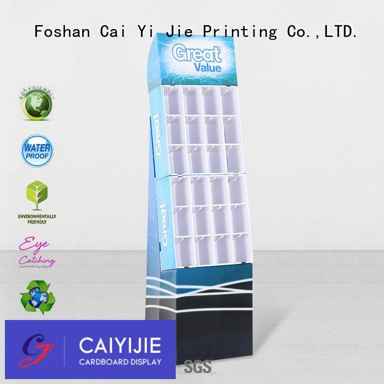 counter hook display stand printing marketing OEM hook display stand CAI YI JIE