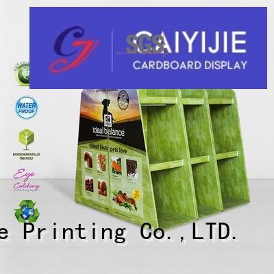 Quality CAI YI JIE Brand cardboard pallet display display product