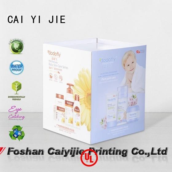 CAI YI JIE header cardboard dump bins dumpbin for displays cheese