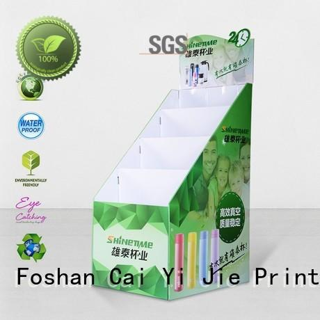 stainless tube cardboard pop displays stands for paper shelf
