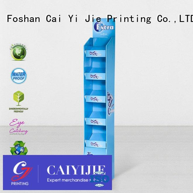 retai uv cardboard greeting card display stand CAI YI JIE