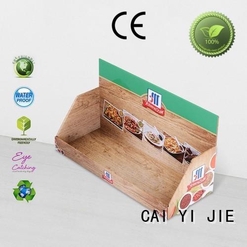 custom cardboard counter displays boxes cardboard display boxes CAI YI JIE Brand