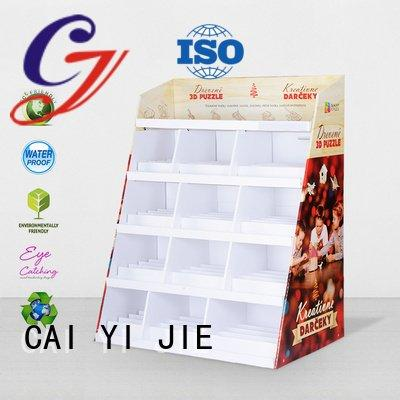 retail fashion CAI YI JIE cardboard greeting card display stand