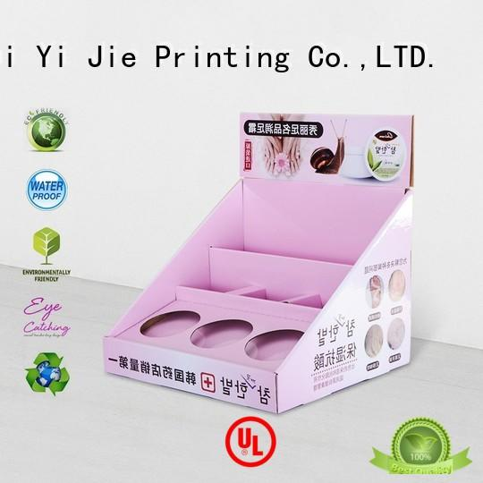 promotional counter display units cardboard factory price for stores CAI YI JIE