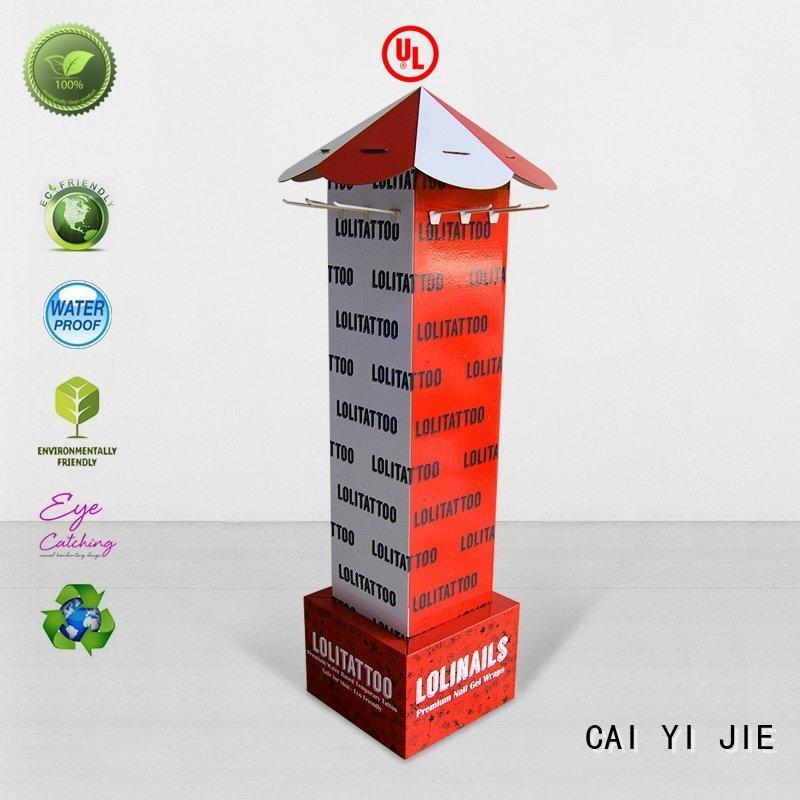 CAI YI JIE full color cardboard business card display holders for perfume