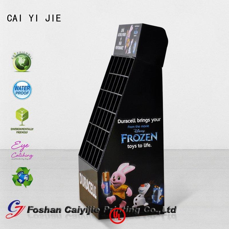 Custom super cardboard stand step cardboard greeting card display stand