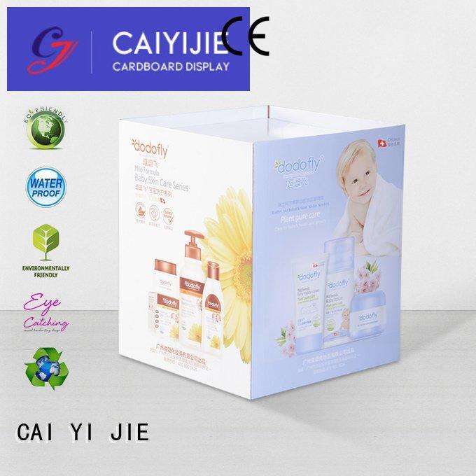 CAI YI JIE Brand cardboard printing cardboard dump bins for retail bin corrugated