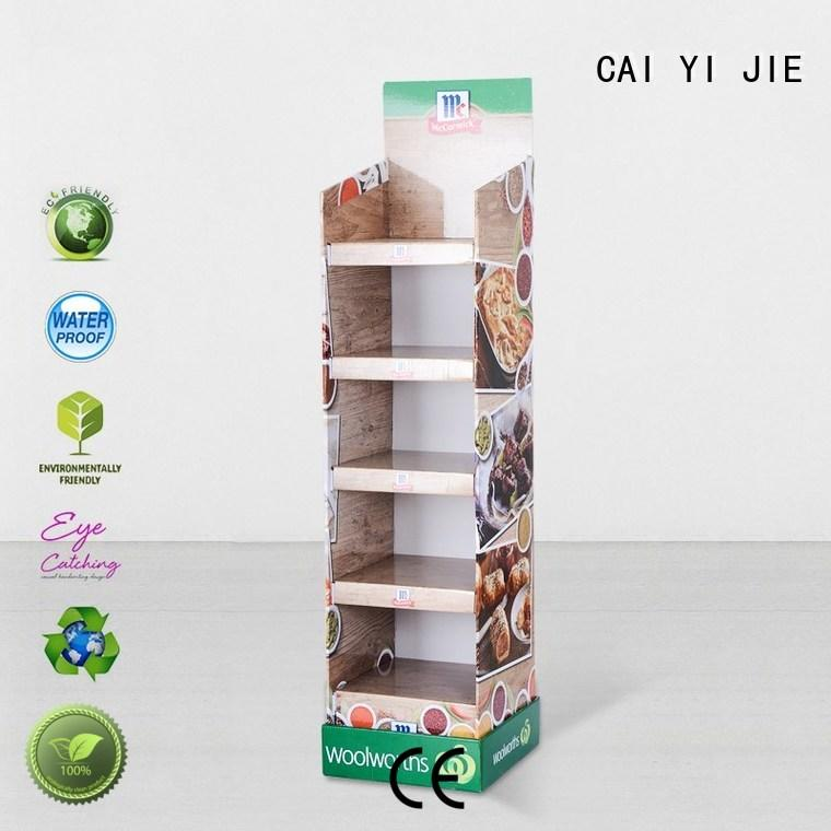 promotional cardboard card display stand items for milk