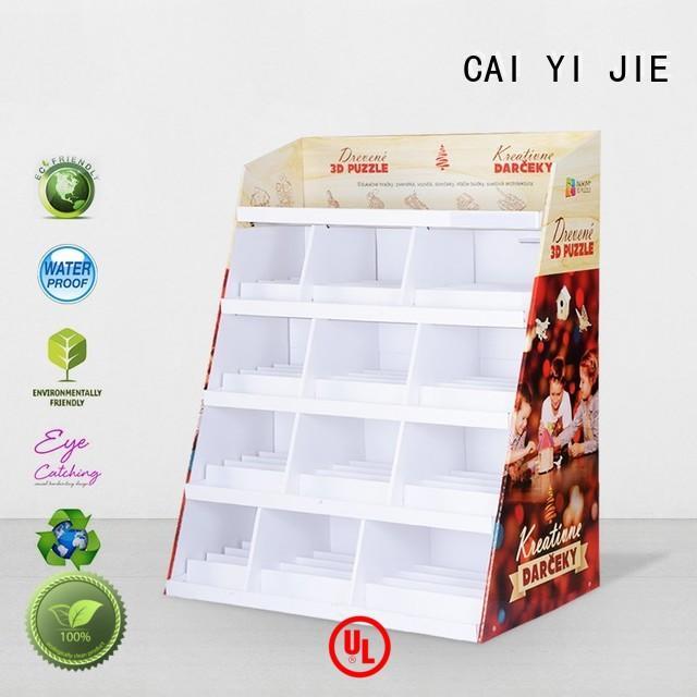 CAI YI JIE cardboard pop displays shelve for promotion