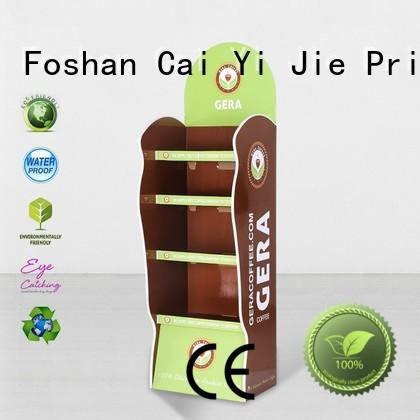 CAI YI JIE stiand cardboard pos display stands products for beer