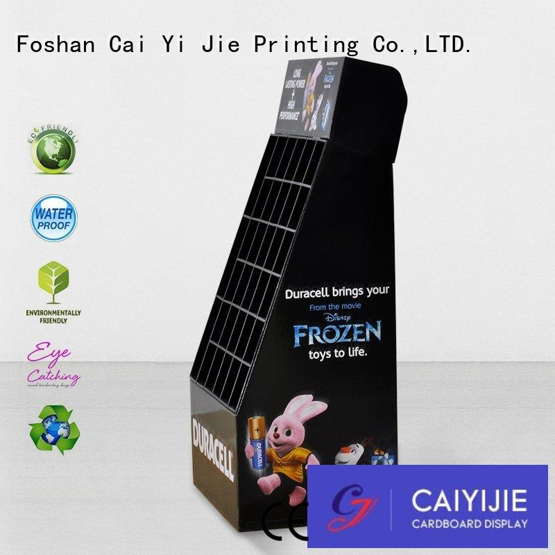 cardboard counter display stands special for foods CAI YI JIE
