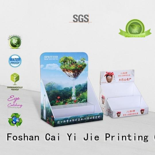 CAI YI JIE custom cardboard counter display trays factory price for supermarkets