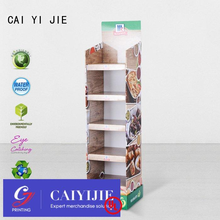 stores sale plastic CAI YI JIE cardboard stand