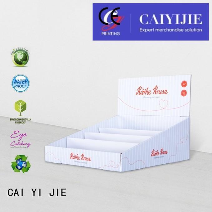 custom cardboard counter displays printed chain cardboard display boxes CAI YI JIE Brand