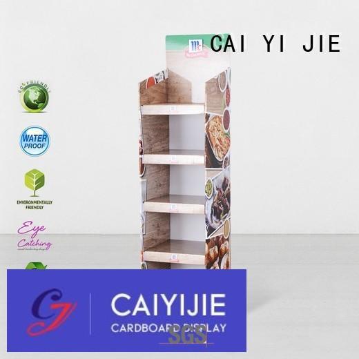 cardboard greeting card display stand pop clip Bulk Buy retail CAI YI JIE
