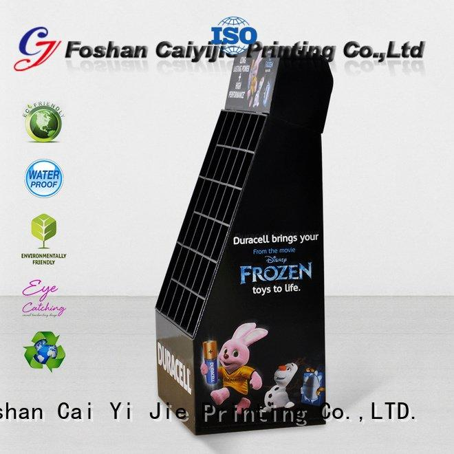 cardboard greeting card display stand sale printing OEM cardboard stand CAI YI JIE