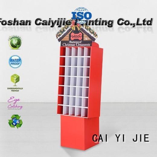 floor cardboard pop displays display for beer CAI YI JIE