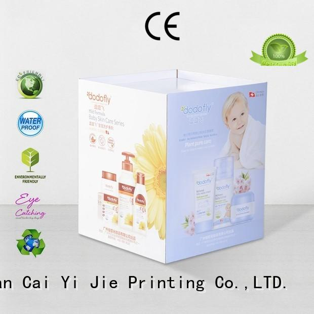 CAI YI JIE best quality cardboard bins for sale printing corrugated display