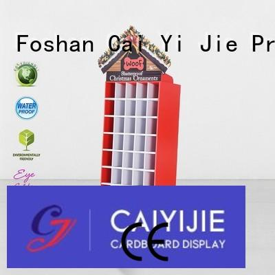 displays sale retai CAI YI JIE Brand cardboard greeting card display stand manufacture