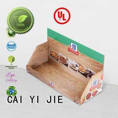 CAI YI JIE promotional cardboard counter inquire now for products
