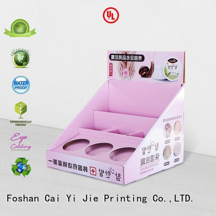 custom cardboard counter displays grocery chain OEM cardboard display boxes CAI YI JIE