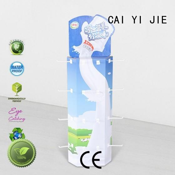 corrugated displays wing for products CAI YI JIE
