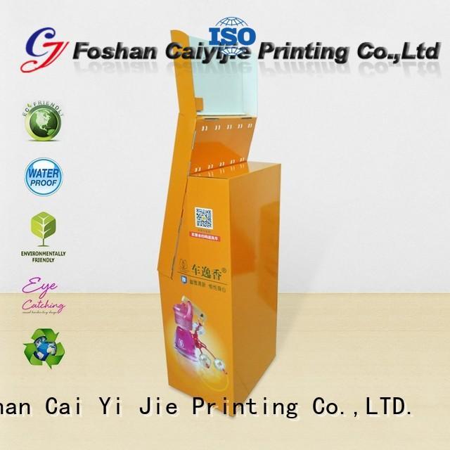 hook cardboard hook display stand advertising CAI YI JIE Brand