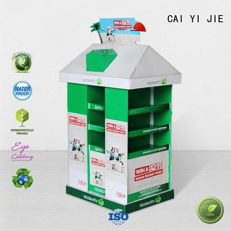 promotional free standing display racks for shop