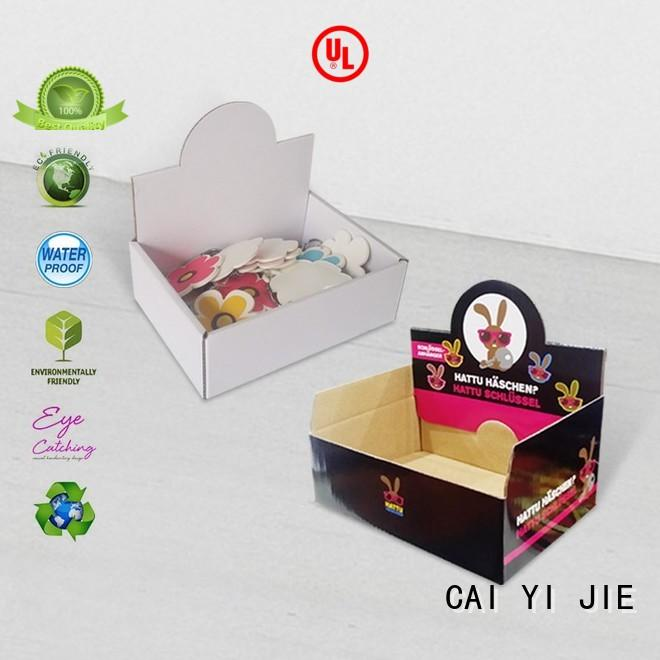 CAI YI JIE promotional retail display boxes cardboard displays for units chain