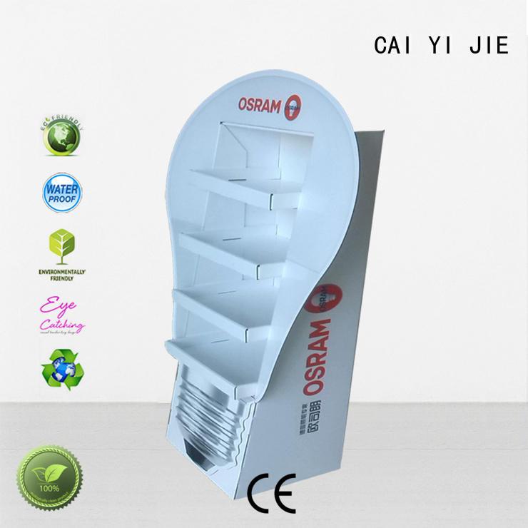 Hot cardboard stand step CAI YI JIE Brand