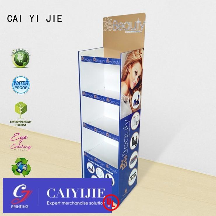 CAI YI JIE Brand promotional stiand custom cardboard greeting card display stand