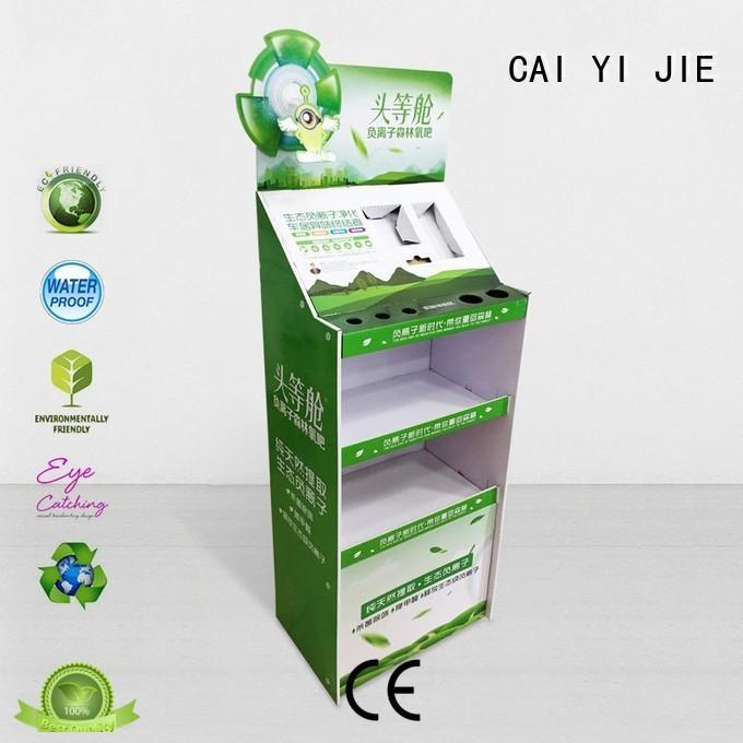 corrugated large OEM cardboard stand CAI YI JIE