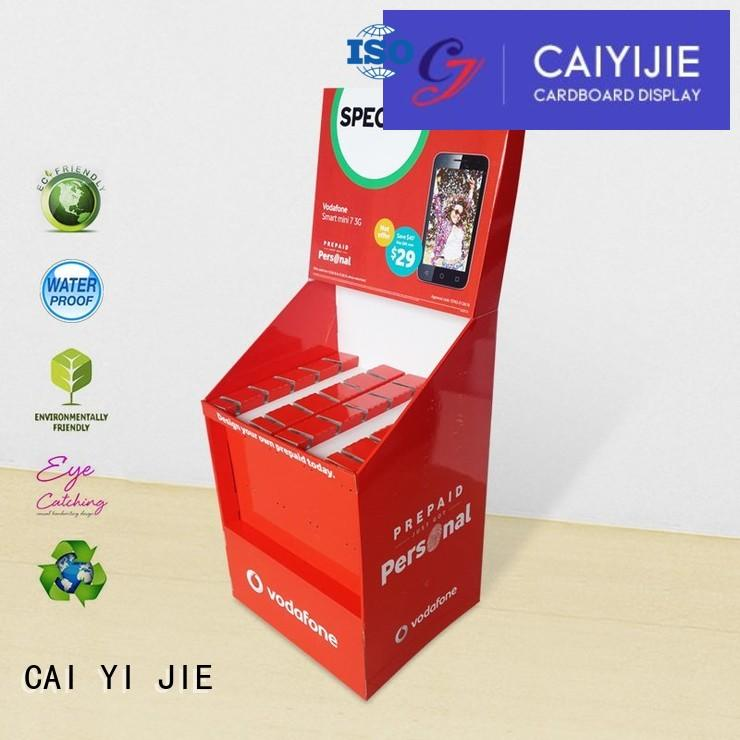cardboard newspaper stands mobile for supermarket CAI YI JIE