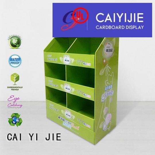 cardboard pallet display plastic CAI YI JIE Brand pallet display