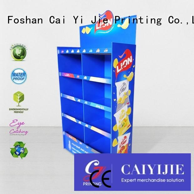 stainless tube cardboard tabletop display stands operation for kitchen supplies