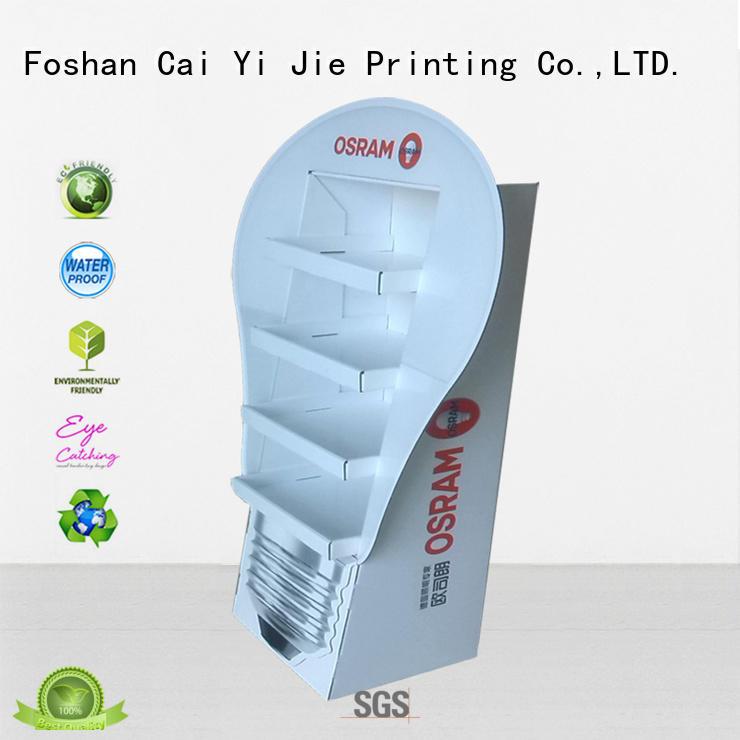 CAI YI JIE displays cardboard floor display pop for supermarket