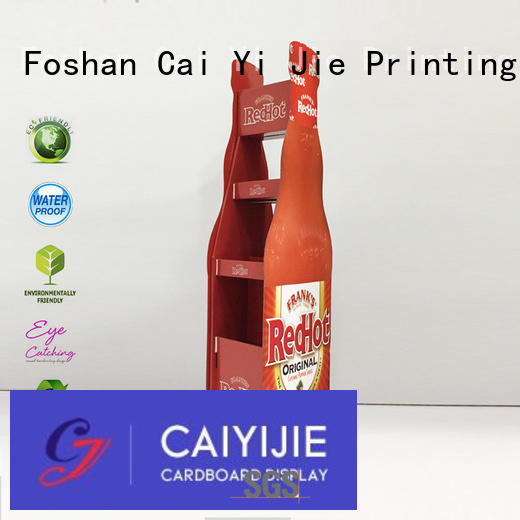 CAI YI JIE retail cardboard pop up displays stands for cabinet