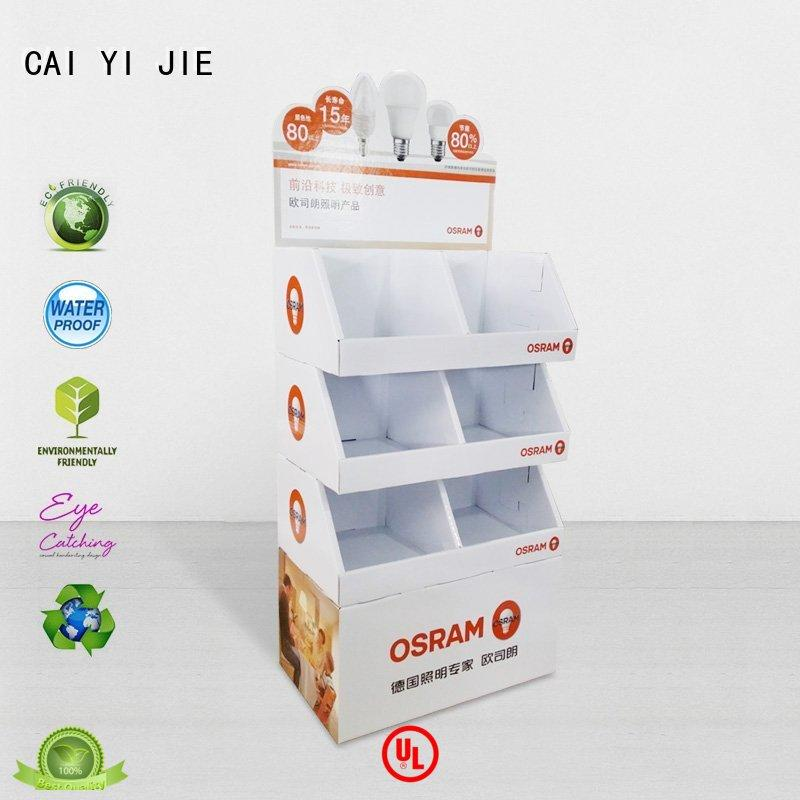 CAI YI JIE special floor display stands for foods