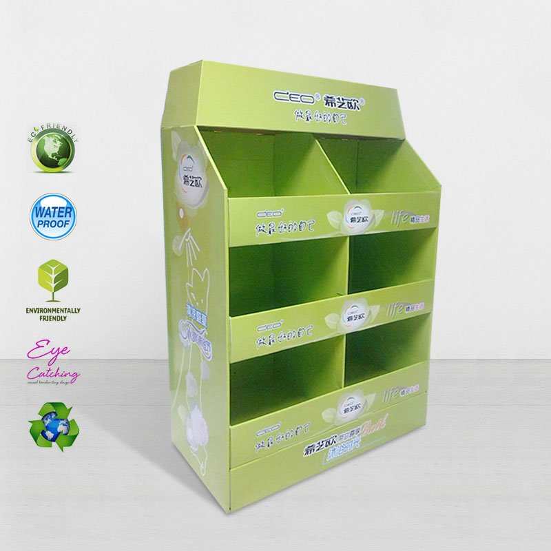 CAI YI JIE FSDU Paper Display Stand for Retail Shop and Chain Store Cardboard Pallet Display image32