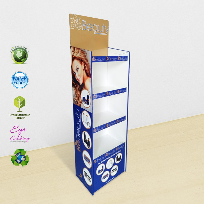CAI YI JIE 4 Shelves Cardboard Display Stand for Cosmetics Products Cardboard Floor Display image12